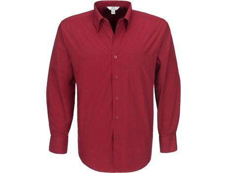 Mens Long Sleeve Metro Shirt - Red Only
