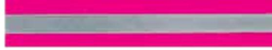 50mm Pink / Silver Reflective Tape