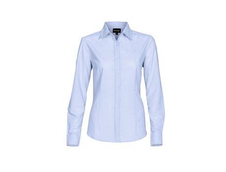 Ladies Long Sleeve Earl Shirt  - Sky Blue Only