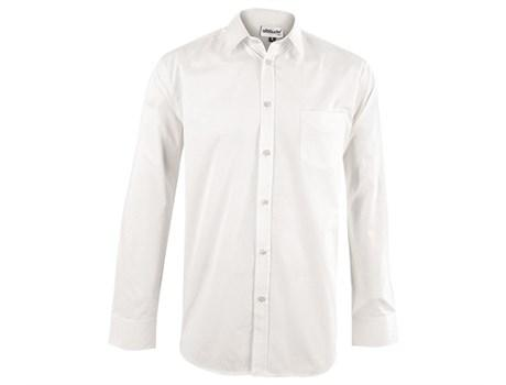 Mens Long Sleeve Haiden Shirt - White Only