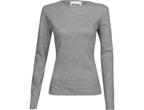 Ladies Long Sleeve Altitude T-shirt - Grey Only