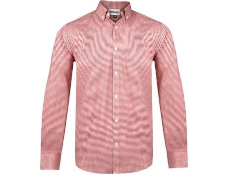 Mens Long Sleeve Edinburgh Shirt - Red Only