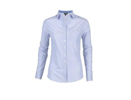 Ladies Long Sleeve Lisbon Shirt - Sky Blue Only