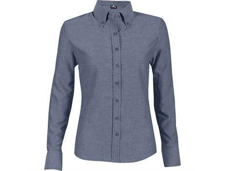 Ladies Long Sleeve Oxford Shirt - Navy Only