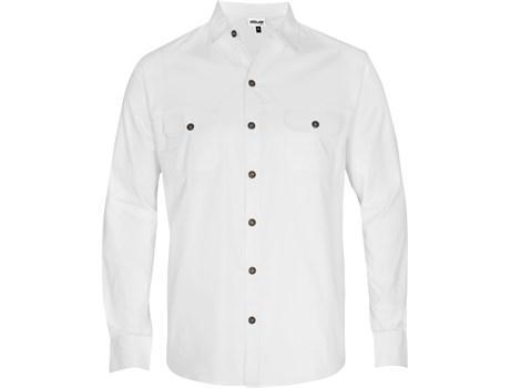 Mens Long Sleeve Oryx Bush Shirt -white Only