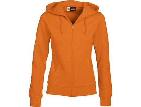 Ladies Bravo Hooded Sweater - Orange Only