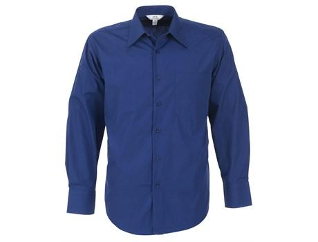 Mens Long Sleeve Metro Shirt - Royal Blue Only