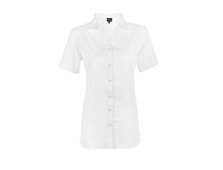 Ladies Short Sleeve Seattle Twill Shirt -white Only