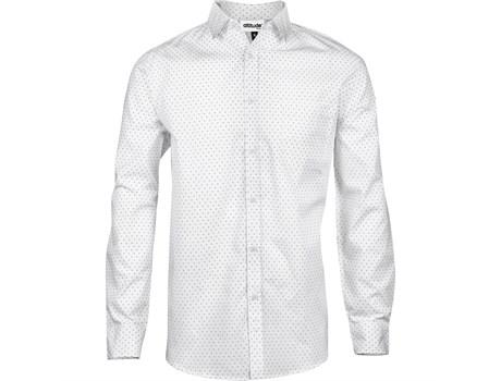 Mens Long Sleeve Duke Shirt -white Only