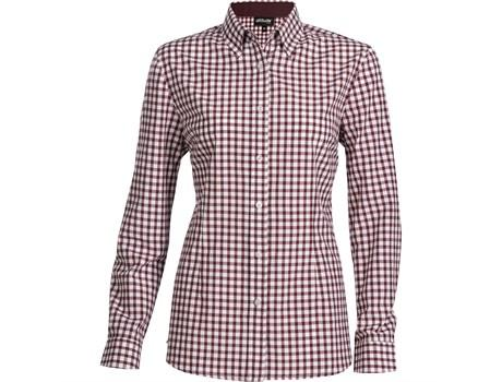 Ladies Long Sleeve Copenhagen Shirt - Dark Red Only