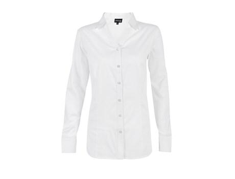 Ladies Long Sleeve Seattle Twill Shirt -white Only