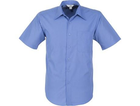 Mens Short Sleeve Metro Shirt - Blue Only