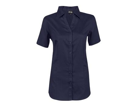 Ladies Short Sleeve Seattle Twill Shirt - Navy Only