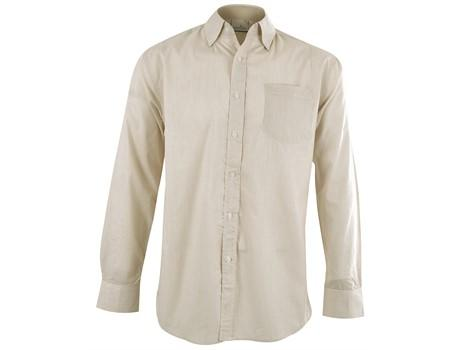 Mens Long Sleeve Lisbon Shirt - Stone Only