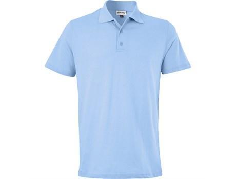 Mens Michigan Golf Shirt - Light Blue Only