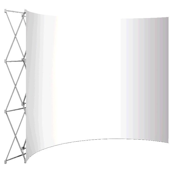 Banner Walls Curved - Frame & Bag
