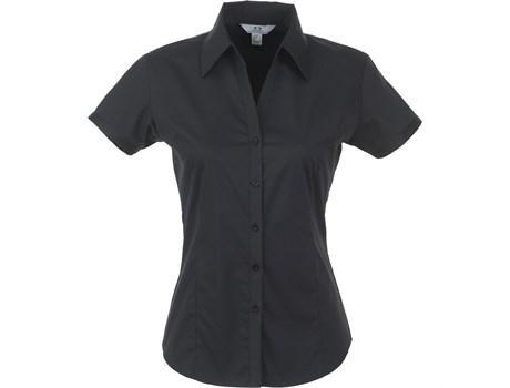 Ladies Short Sleeve Metro Shirt - Black Only