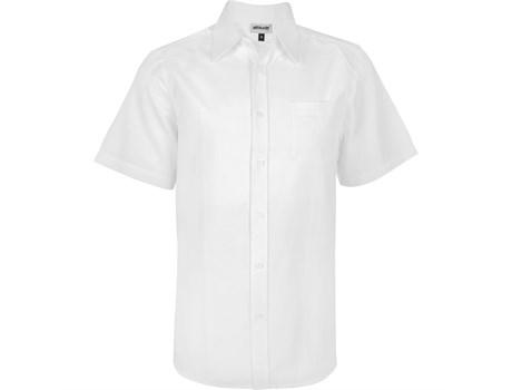 Mens Short Sleeve Oxford Shirt -white Only