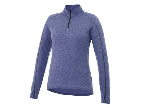 Ladies Taza 1/4 Zip Sweater - Blue Only