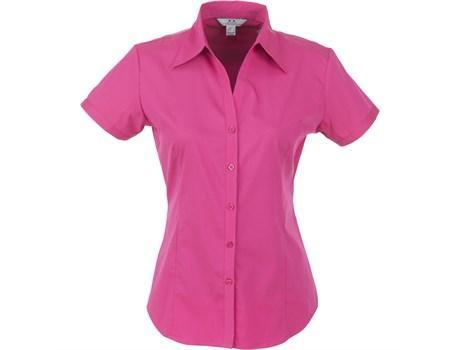 Ladies Short Sleeve Metro Shirt - Fuscia Only