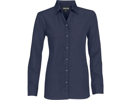 Ladies Long Sleeve Catalyst Shirt - Navy Only