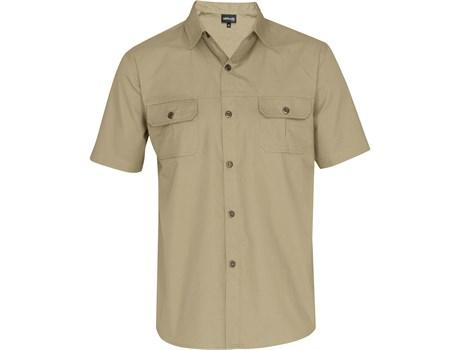 Mens Short Sleeve Oryx Bush Shirt - Stone Only