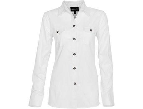Ladies Long Sleeve Oryx Bush Shirt -white Only