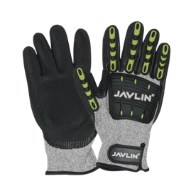 Cut 5 Impact Glove With Tpu Protection On Fingers, Impact Pad Neprene Cuff And Velcro Closure Sizes Small - 2xl