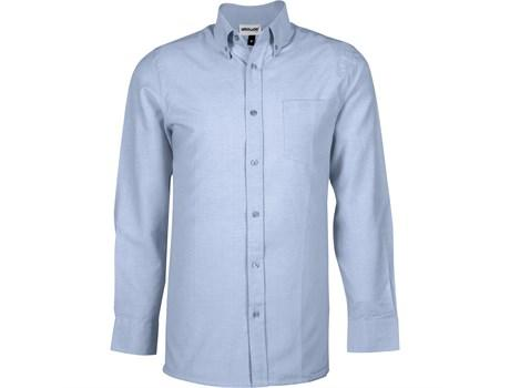 Mens Long Sleeve Oxford Shirt - Light Blue Only