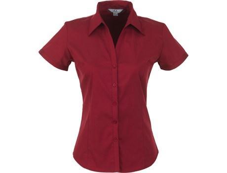 Ladies Short Sleeve Metro Shirt - Red Only
