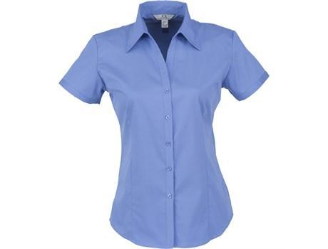 Ladies Short Sleeve Metro Shirt - Blue Only