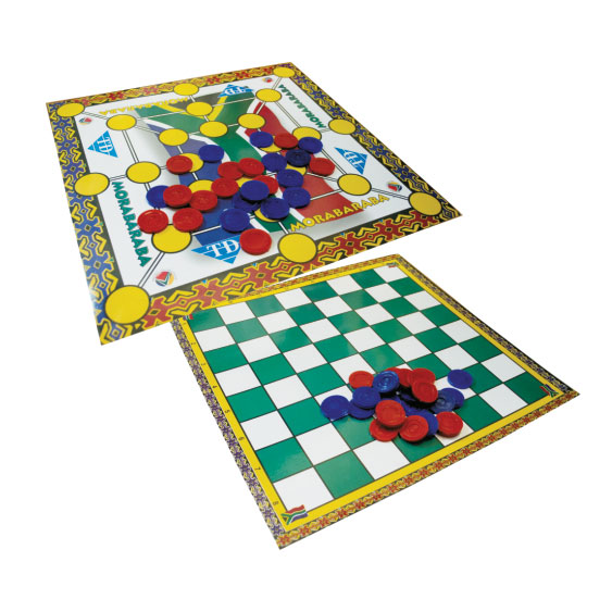 Morabaraba (laminated Board + Coins Set)