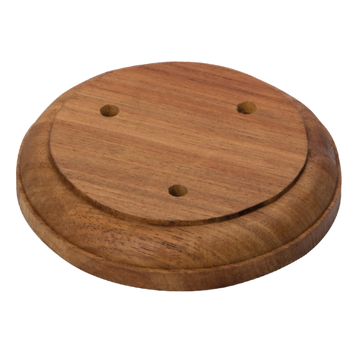 Wooden Round 3 Pole Base