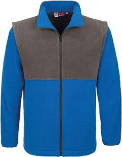 Mens Benneton Zip-off Micro Fleece Jacket