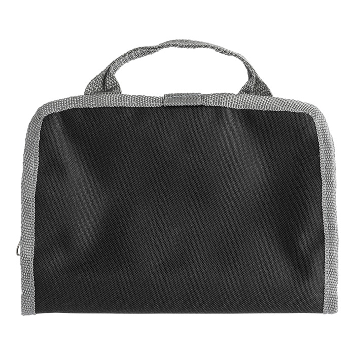 Bb7667 - Toiletry Bag With Dual Zippered Compartments