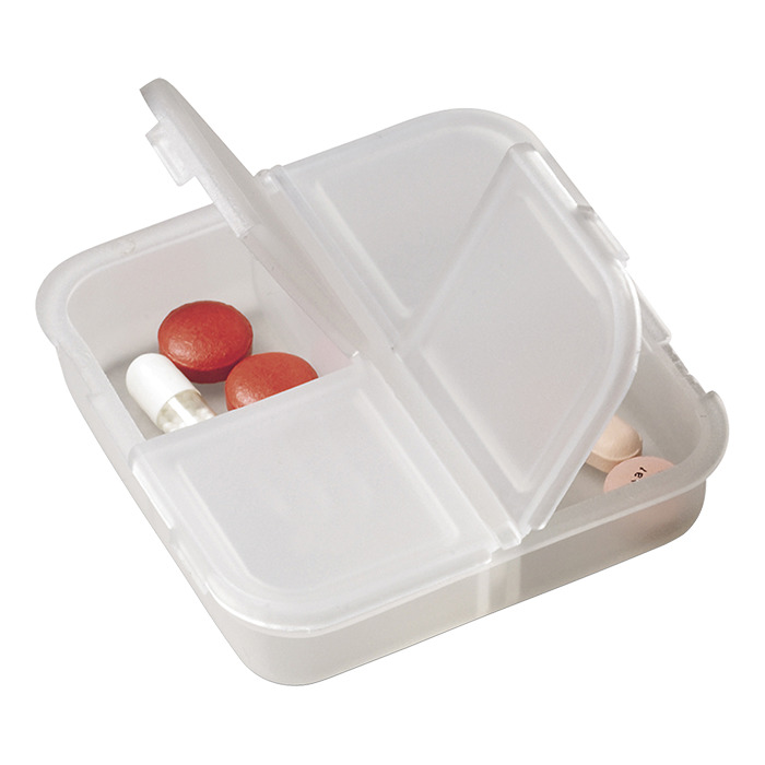 Bh4492 - Square 4 Compartment Pill Holder