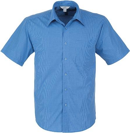 Mens Short Sleeve Micro Check Shirt