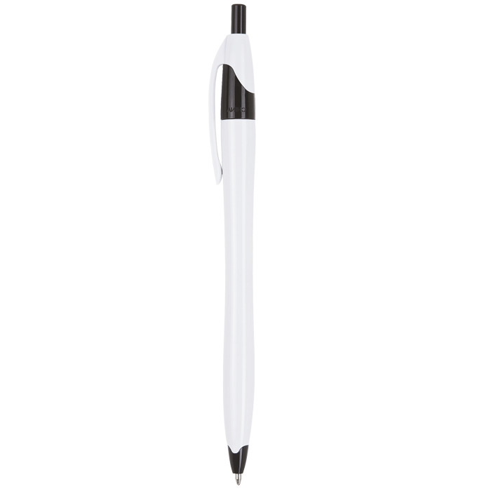 Bp0015 - Slim White Barrel Ballpoint Pen