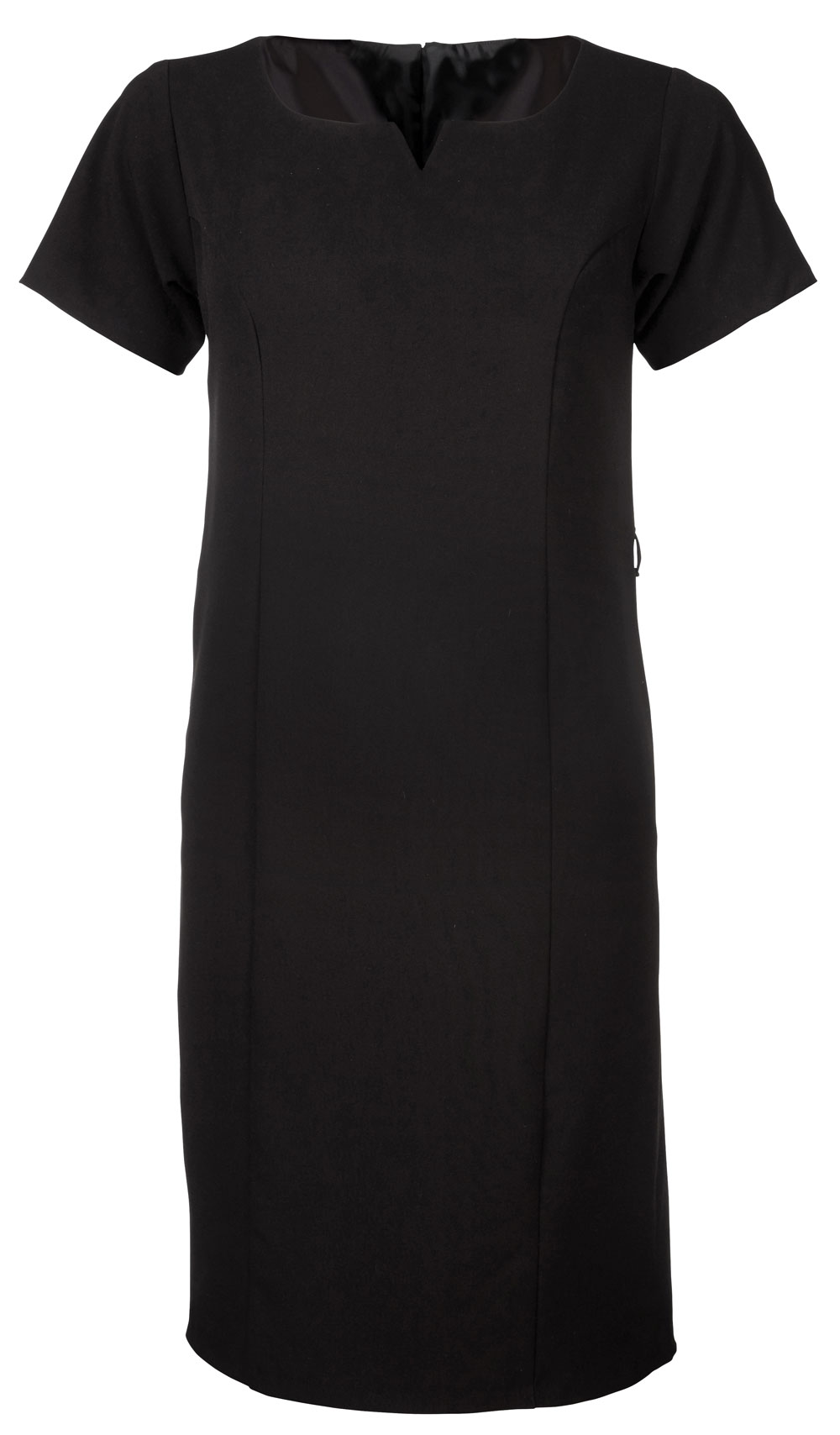 Ladies Carol S/sleeve Dress - Black