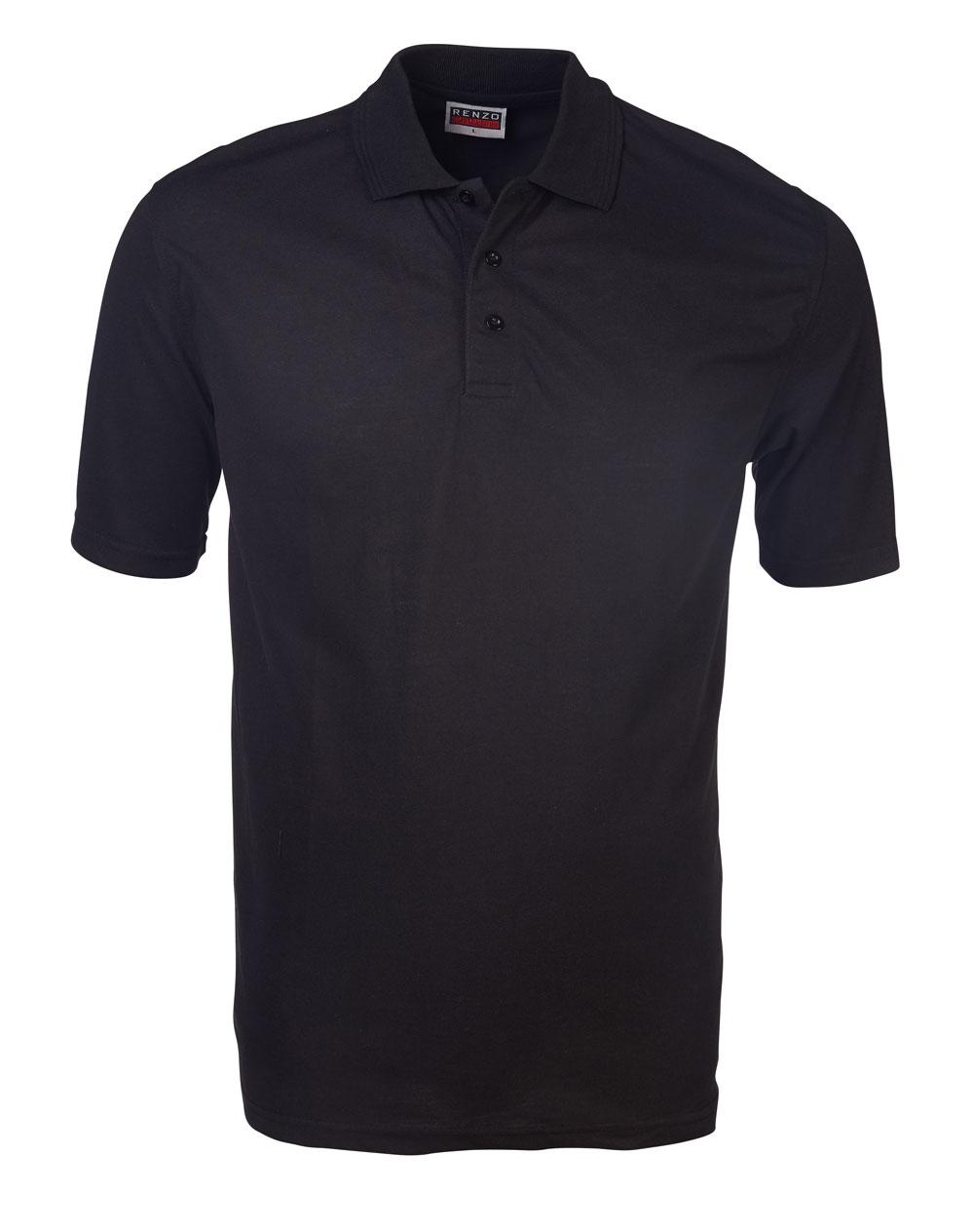 P18 Pique Golfer - Black