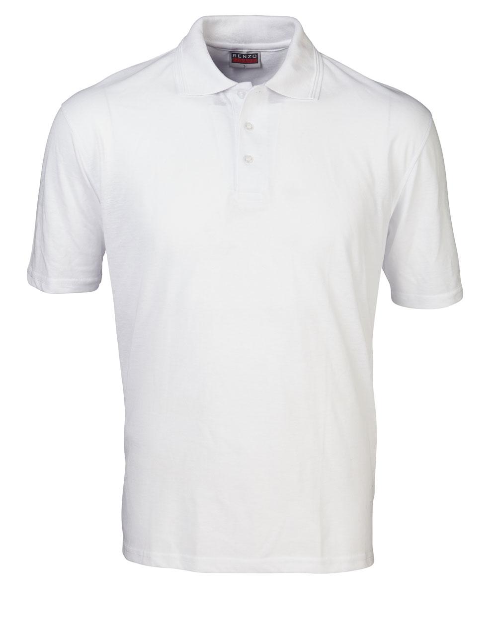 P18 Pique Golfer - White