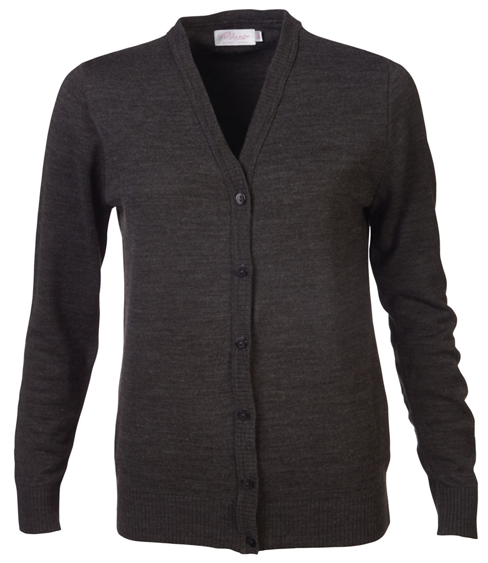 Ladies Kate Cardigan - Charcoal
