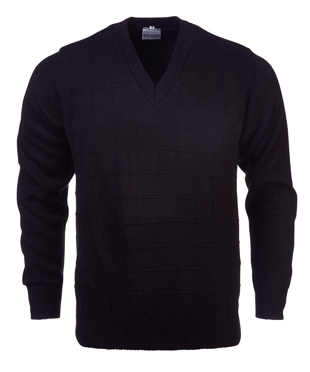 Mens Deluxe L/s Pullover - Black
