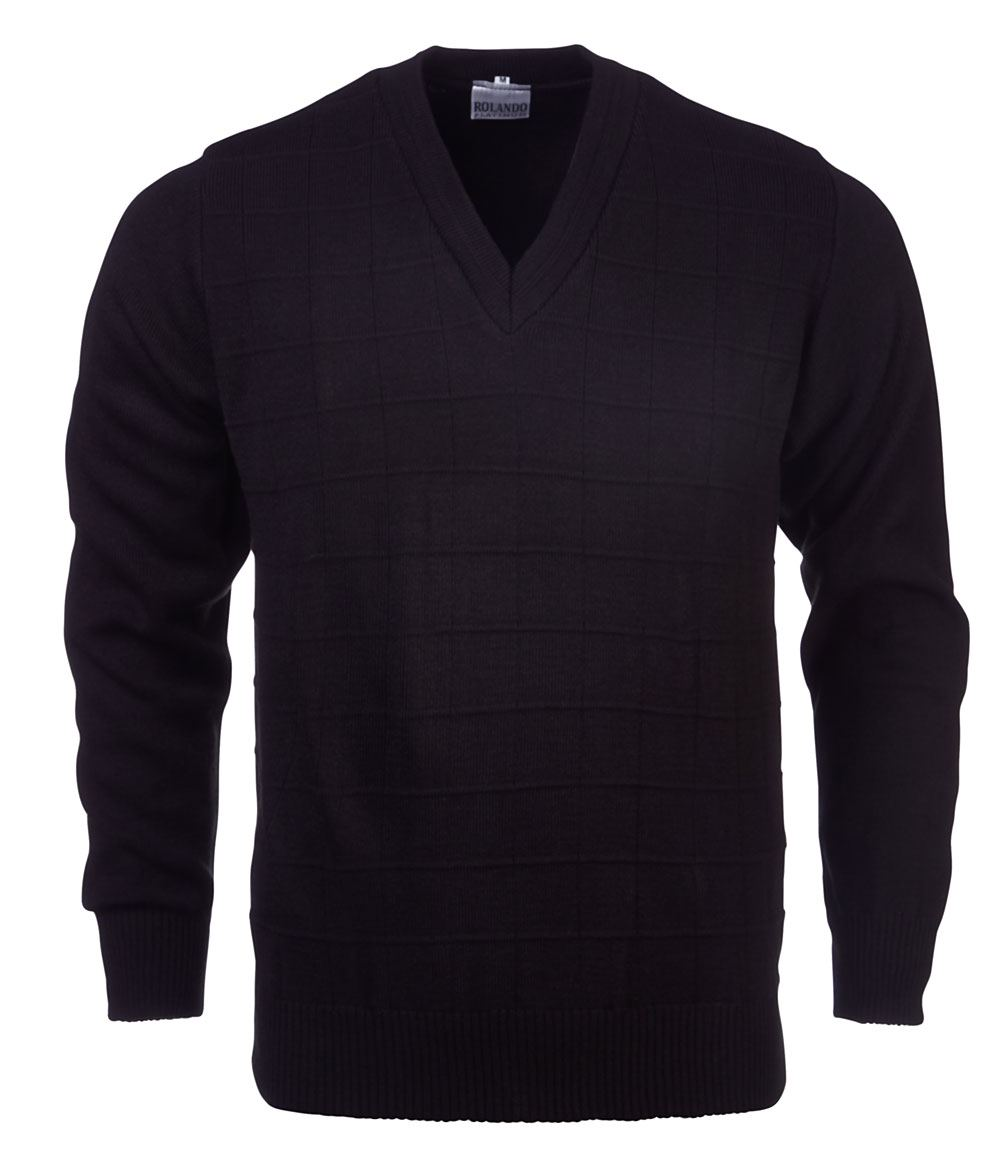Mens Deluxe L/s Pullover - Navy