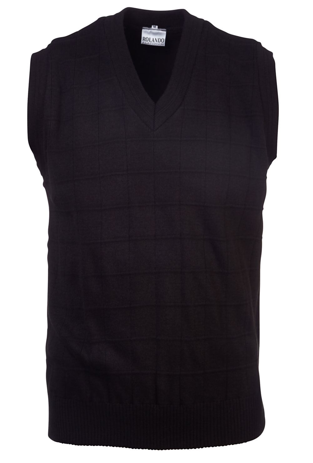 Mens Sleeveless Delux Jersey - Black