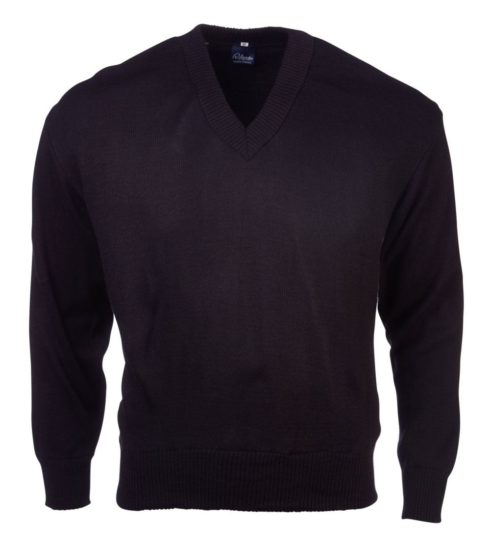 Mens Basic L/s Pullover - Black