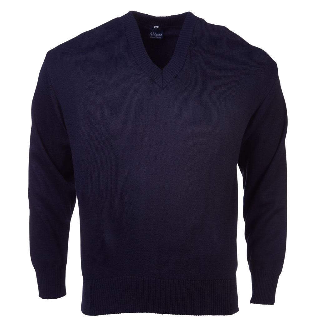 Mens Basic L/s Pullover - Navy