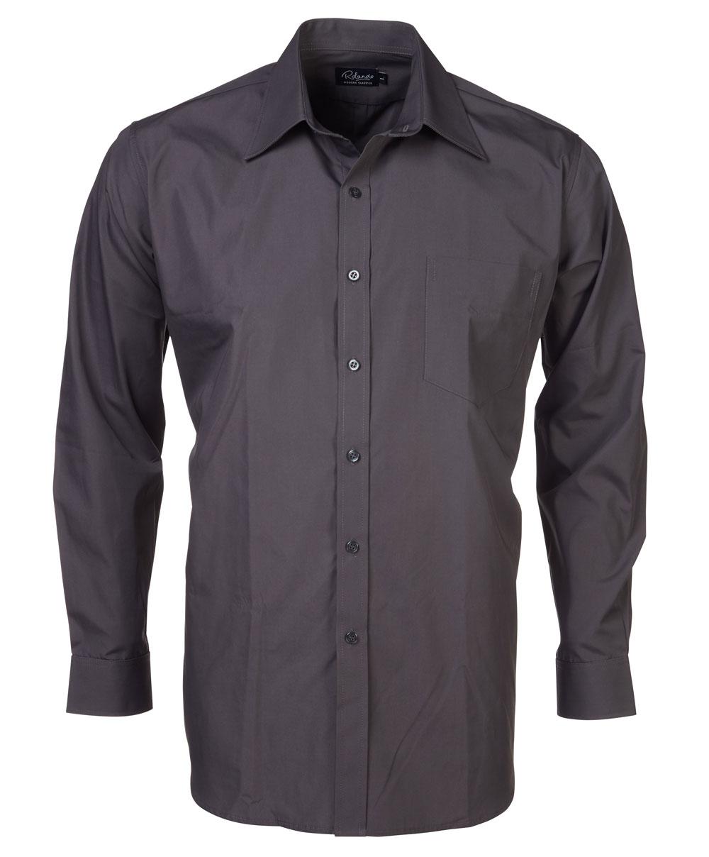 Mens P070 S/s Shirt - Charcoal