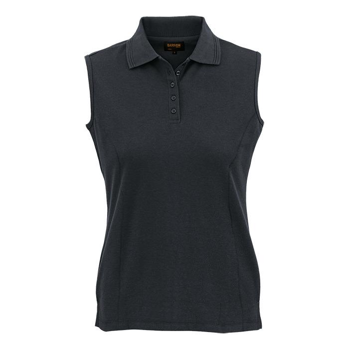 Ladies 175g Pique Knit Sleeveless Golfer (l175-slv)