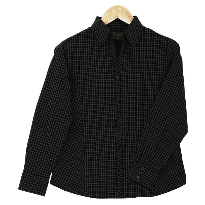 Ladies Pioneer Check Blouse Short Sleeve (ll-pi)